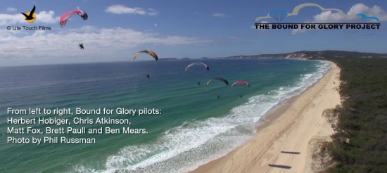 paramotoring at rainbow beach