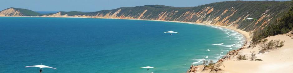 sunshine coast paragliding rainbow beach